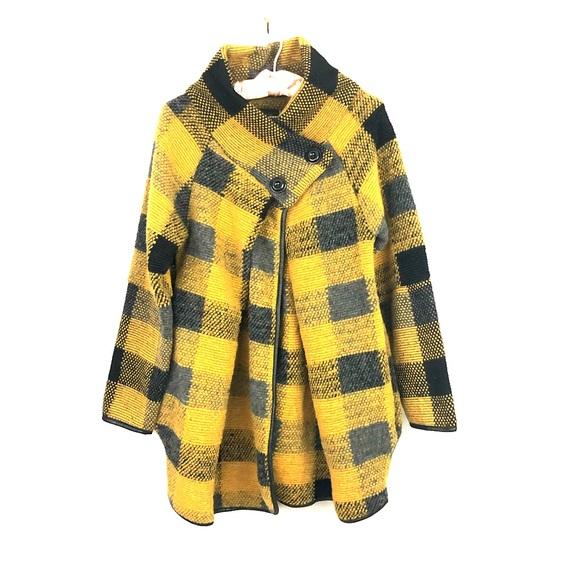 glossy Jackets & Blazers - NWT Italian Wool Blend Coat